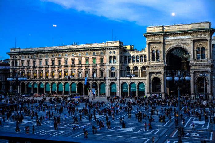 Milano, Duomo, Galleria, Inglese