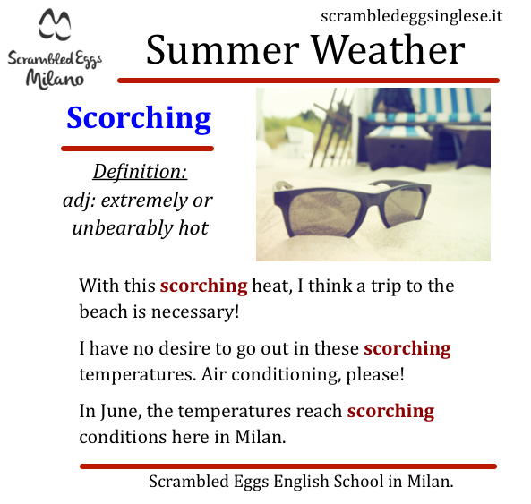 caldo vocaboli inglese Milano