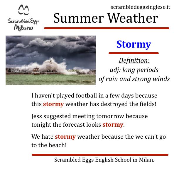 stormy tempesta imparare inglese Milano
