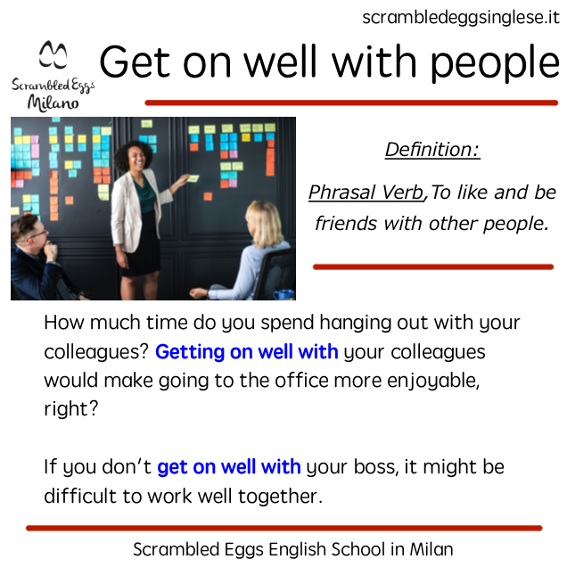 get along better with colleagues