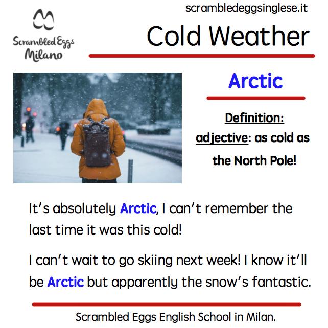 Freezing weather synonyms