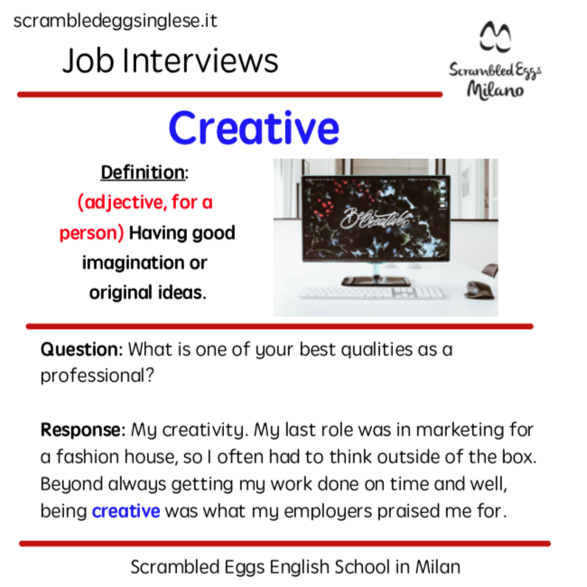 Business interview English vocabulary