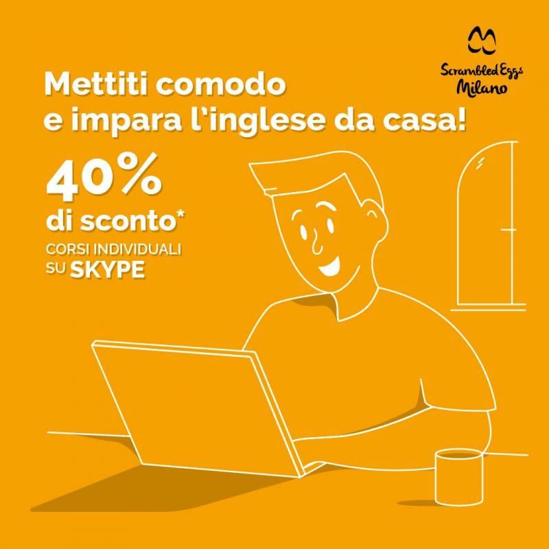 40% di sconto sulle lezioni d'inglese online fino al 01\06\2020